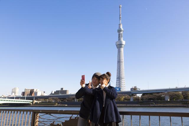 高校生デートカップル写真