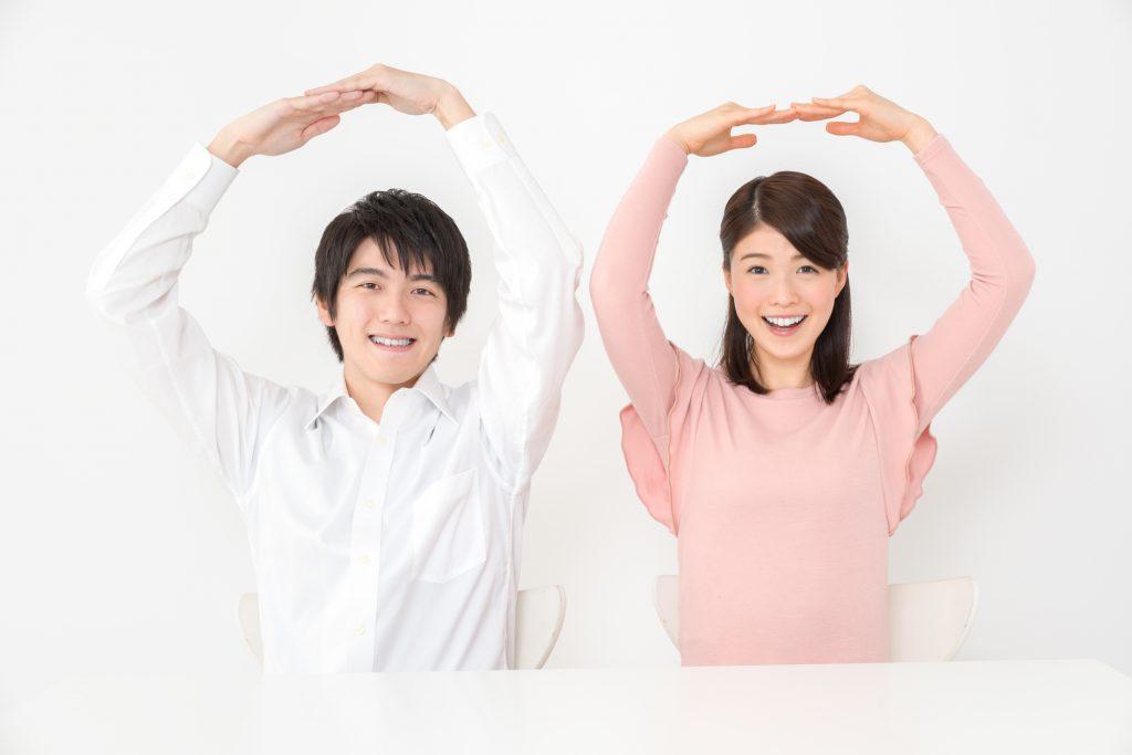 丸 ジェスチャー 男女