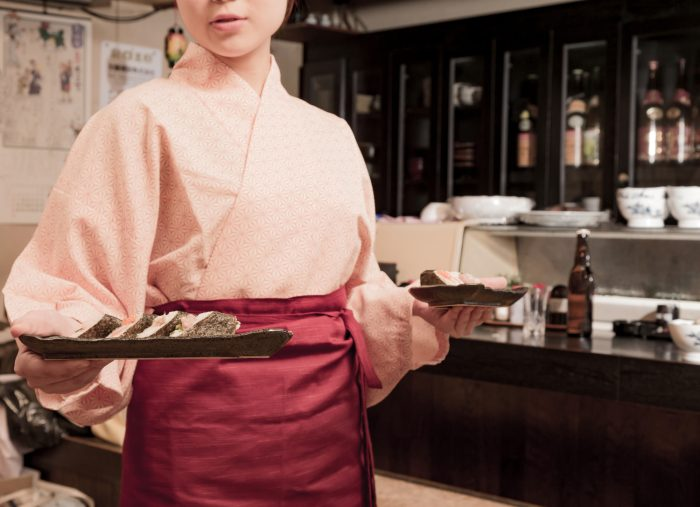 寿司 裏方