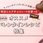 【プレゼント】本命もインスタ映えも!明治チョコレートでオススメバレンタインレシピ特集