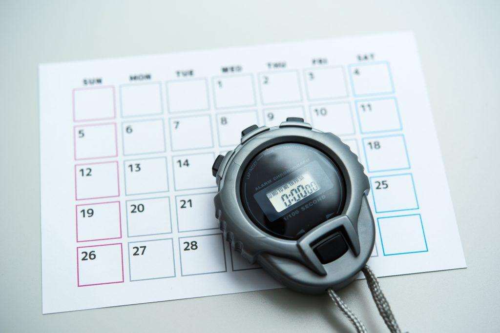 ストップウォッチ カレンダー
