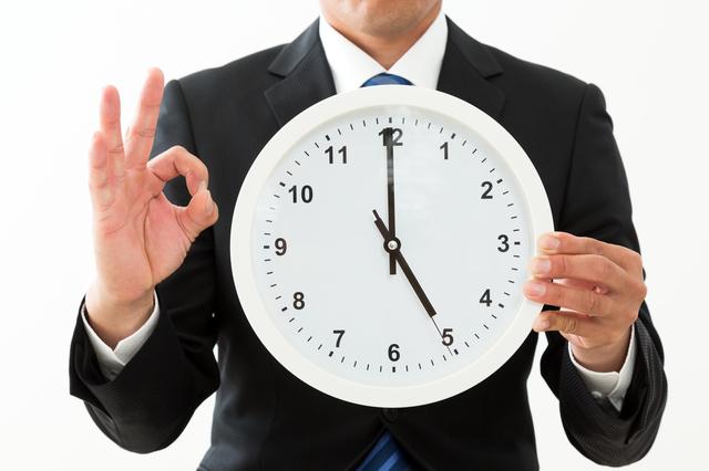 時計 男性 5時