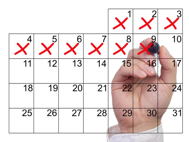 カレンダー チェック