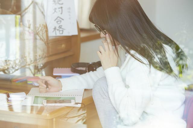 受験 勉強 テスト 女子高生