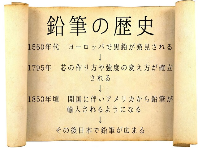 鉛筆 歴史 年表