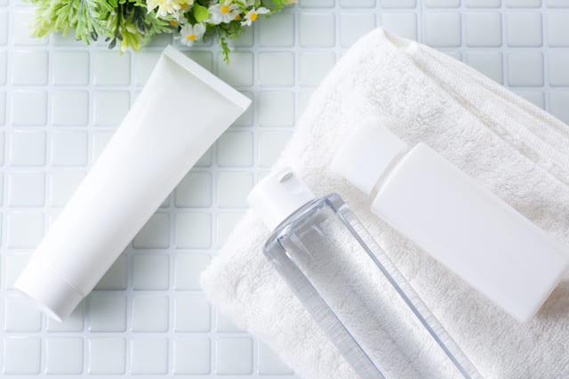 洗顔料 化粧水 タオル